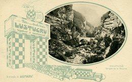 """38 - DAUPHINE - Gorge De La Bourne - Carte Publicitaire """" LUSTUCRU """" - Francia"""