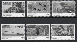 Alderney Set Of Stamps To Celebrate The 70th Anniversary Of Battle Of Britain. - Alderney