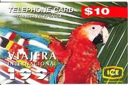 COSTA RICA - Parrot, ICE Tel Prepaid Card $10, 10/96, Used - Costa Rica
