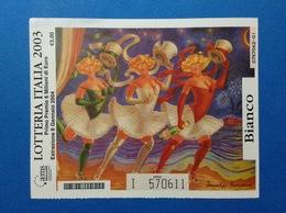 2003 BIGLIETTO LOTTERIA NAZIONALE ITALIA ESTRAZIONE 2004 COLORE BIANCO - Biglietti Della Lotteria
