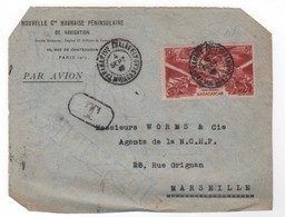 Madagascar  1940-1960 > DEVANT DE LETTRE- N° PA 65 ANALAKELY  4-SEP-47-Pour  Marseille - Lettres & Documents