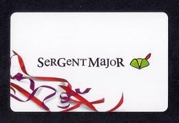Carte Cadeau SERGENT MAJOR.   Gift Card. - Cartes Cadeaux