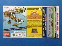 2017 BIGLIETTO LOTTERIA NAZIONALE ITALIA ESTRAZIONE 2018 - Biglietti Della Lotteria