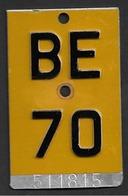 Velonummer Mofanummer Bern BE 70 - Number Plates