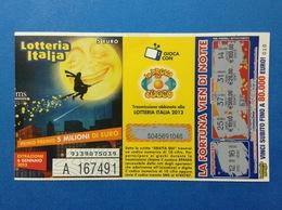 2012 BIGLIETTO LOTTERIA NAZIONALE ITALIA ESTRAZIONE 2013 - Loterijbiljetten