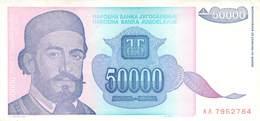 50000 Dinar Banknote Jugoslawien 1993 VF/F (III) - Jugoslawien