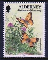 Alderney Single 4p Stamp From The 'Flora And Fauna' Definitive Set. - Alderney