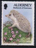 Alderney Single 50p Stamp From The 'Flora And Fauna' Definitive Set. - Alderney