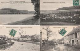 4 CPA:AUBIGNY LES SOMBERNON (21) RUE,RUE PRINCIPALE,VUE,RÉSERVOIR DE GROSBOIS..ÉCRITES - France