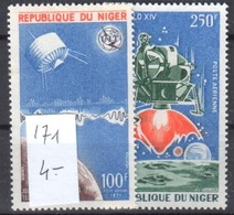 Very Fine Mnh **Niger Lot Space Espace 4 Euros - Niger (1960-...)
