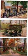 6 Cartes Publicitaires DUBONNET (dos) *convalescents *lanciers Belges *tranchées *fusiliers Marins *taubé * Infantererie - Publicité