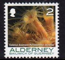 Alderney Single 2p Stamp From The 'Corals And Anemones' Definitive Set. - Alderney