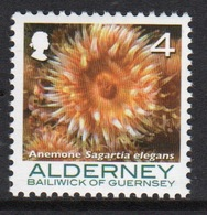 Alderney Single 4p Stamp From The 'Corals And Anemones' Definitive Set. - Alderney