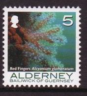 Alderney Single 5p Stamp From The 'Corals And Anemones' Definitive Set. - Alderney