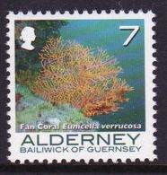 Alderney Single 7p Stamp From The 'Corals And Anemones' Definitive Set. - Alderney