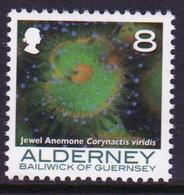 Alderney Single 8p Stamp From The 'Corals And Anemones' Definitive Set. - Alderney