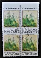 TABLEAU D'ALBRECHT DÜRER - LA PELOUSE 1978 - 1 BL X 4 OBLITERE - YT 522 - MI 659 - HAUT DE FEUILLE - Congo - Brazzaville