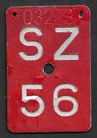 Velonummer Schwyz SZ 56 - Number Plates