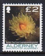 Alderney Single £2 Stamp From The 'Corals And Anemones' Definitive Set. - Alderney