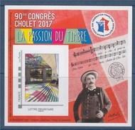 = Bloc FFAP 90ème Congrès à Cholet La Passion Du Timbre, 1 Timbre TVP  LP Cadre Philaposte Gris Numéro Verso 10448 - FFAP