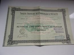 IMPRIMERIE MULCEY (500 Francs) Saint Etienne,loire - Acciones & Títulos