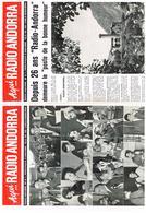Aqui... Radio Andorra Pricipauté D'Andorre Sheila Sylvie Vartan Johnny Hallyday Poulidor Pompidou France Gall M Amont - Publicités