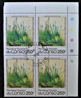 TABLEAU D'ALBRECHT DÜRER - LA PELOUSE 1978 - 1 BL X 4 OBLITERE - YT 522 - MI 659 - COIN DE FEUILLE - Congo - Brazzaville