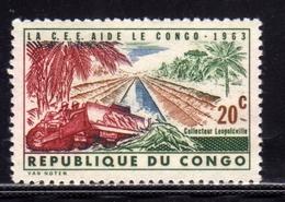 CONGO 1963 LA CEE AIDE Bulldozer And Kabambare Sewer, Leopoldville CENT. 20c MNH - Congo - Brazzaville