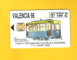 """CHIPCARD SPAIN """"TRAM DE VALENCIA 1995"""" P 135 - EX: 6.100 - NEW/NOT USED - Emissions Privées"""