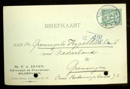 HANDGESCHREVEN BRIEFKAART Uit 1914 Gelopen Van WILDERVANK Naar GRONINGEN * NVPH 55 (11.562i) - Periode 1891-1948 (Wilhelmina)