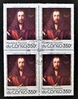 TABLEAU D'ALBRECHT DÜRER - AUTOPORTRAIT 1978 - 1 BL X 4 OBLITERE - YT 523 - MI 660 - Congo - Brazzaville