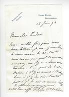 Philippe D'Orléans (1838-1894) LAS 1894 AUTOGRAPHE AUTOGRAPH Comte De Paris STOWE HOUSE BUCKINGHAM /FREE SHIP. R - Autogramme & Autographen