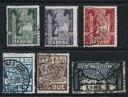 Italia Regno 1923 - Anniversario Marcia Su Roma - N.  141 / 46 Usati = Annulli NON Certificati - Cat. 180 € - L. 1620 - Usati