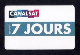 Carte Cadeau CANAL SAT  7 JOURS.   Gift Card. - Cartes Cadeaux