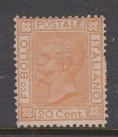 Italy S 28 1877 King Victor Emmanuel II,20c Orange, Mint Hinged - Mint/hinged