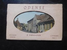 Odense 8 Farvefotos Circa 1950 / Carnet 8 Cartes Odense Danemark - Danemark
