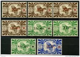 Nouvelle Caledonie (1945) N 249 à 256 * (charniere) - Nouvelle-Calédonie