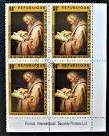 TABLEAU DE RUBENS - L'APÔTRE SIMON 1978 - 1 BL X 4 OBLITERE - YT 480 - MI 606 - COIN DE FEUILLE - Congo - Brazzaville