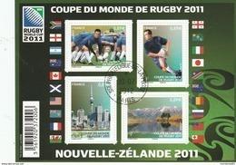 FRANCE 2011 BLOC COUPE DU MONDE DE RUGBY OBLITERE F4576 F 4576 -                   TDA163 - Oblitérés