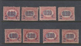 Italy S 29-36 1878 Official Stamps Surcharged In Blue Set 8, Mint No Gum - Mint/hinged