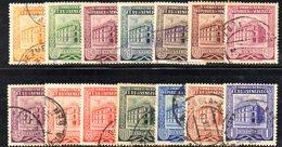 CI1155 - VENEZUELA 1953, Posta Aerea Yvert N. 435A/446  Usata  Postes Caracas - Venezuela