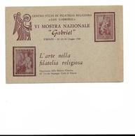 FIRENZE 1968 - IV MOSTRA NAZIONALE GABRIEL - Nuova, Non Viaggiata - In Buone Condizioni. - Esposizioni