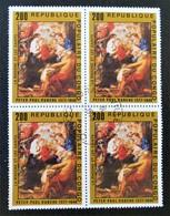TABLEAU DE RUBENS - LA MADONNE ET LES SAINTS 1978 - 1 BL X 4 - OBLITERE - YT 482 - MI 608 - Congo - Brazzaville