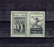 ERINNOPHILIE - VIGNETTES JO 1924 - NSG - Commemorative Labels