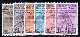 CI1190a - VENEZUELA 1954, Posta Aerea Serie Yvert N. 555/560   Usata - Venezuela
