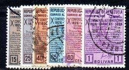 CI1193 - VENEZUELA 1954, Posta Aerea Serie Yvert N. 555/560   Usata - Venezuela