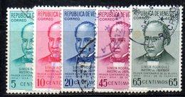 CI1197a - VENEZUELA 1954, Posta Aerea Serie Yvert N. 561/565  Usata. Rodriguez - Venezuela