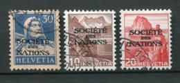 13088 SUISSE  Service  N°54, 181, 182 °   1924-42  TB - Dienstpost