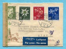 Zensur - Pro Juventutebriefli Von Zollikon Nach Wien 1944 - Lettres & Documents
