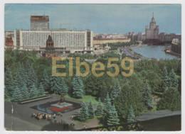 Russie, Moskva, Hotel Rossia, écrite Sur Entier Postal  1976 (timbres) - Russia